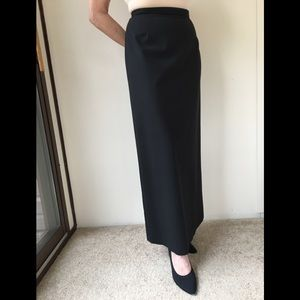 Bloomingdales long straight skirt with back slit